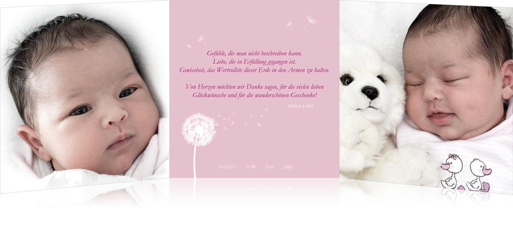 Geburt- / Taufkarte undAccessoires