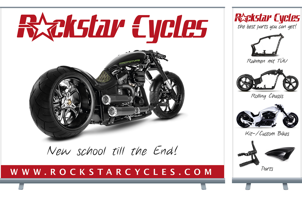 Rockstar Cycles – Roll-Ups, Flyer, Banner