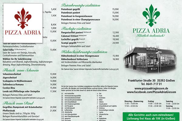 Pizza Adria Restaurant - Gießen