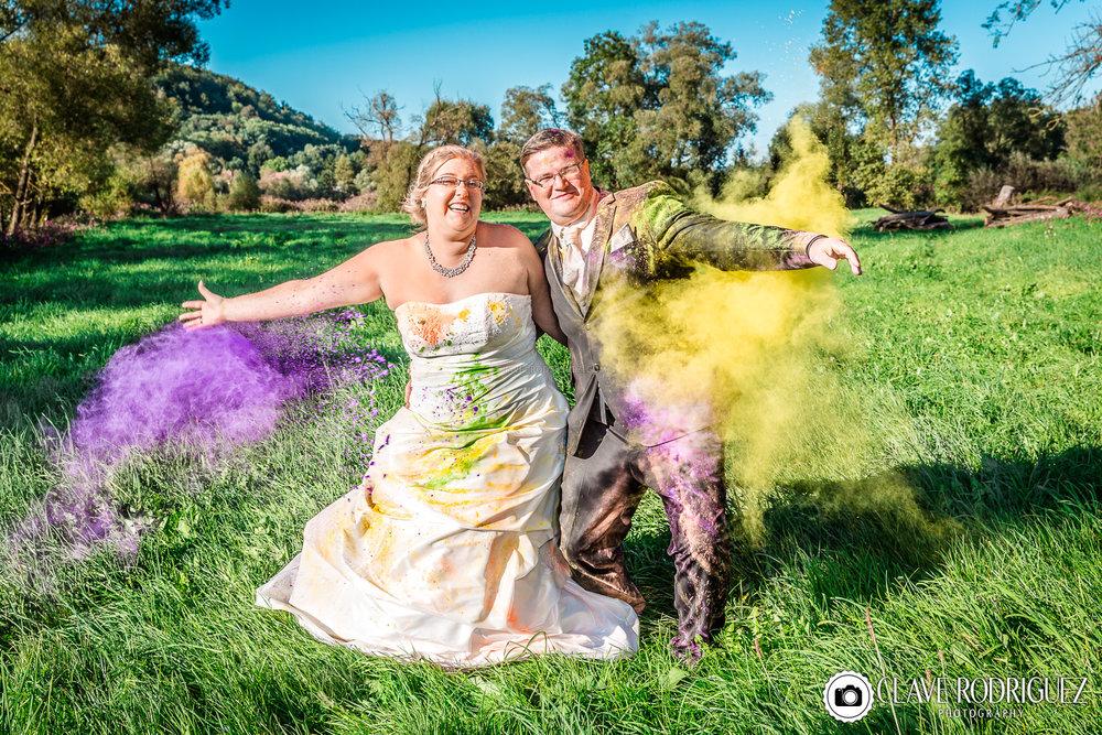 Holi Color Farbpulver Shooting