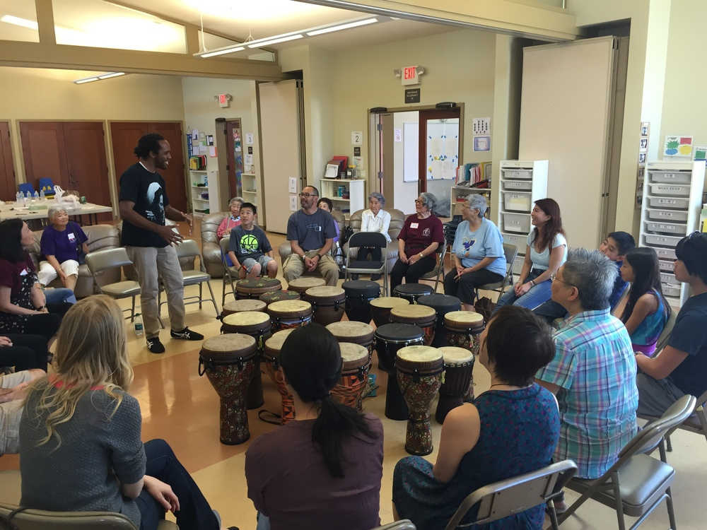 Group drumming: an intergenerational, medicinal drumming experience