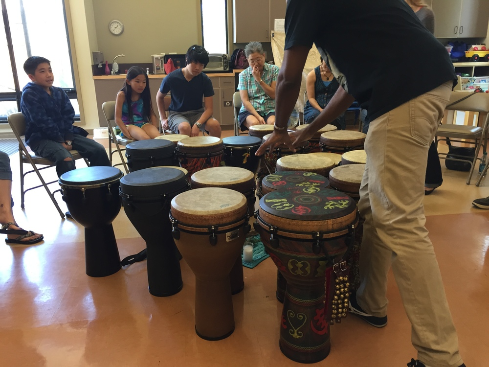 """Experience of Art"" participants choose drums"