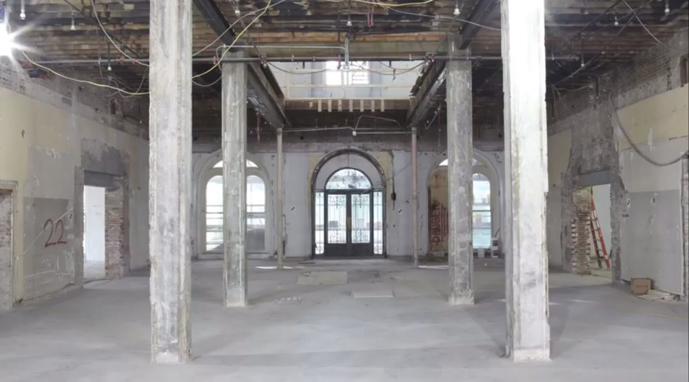 RH Boston - entry and first floor before restoration.