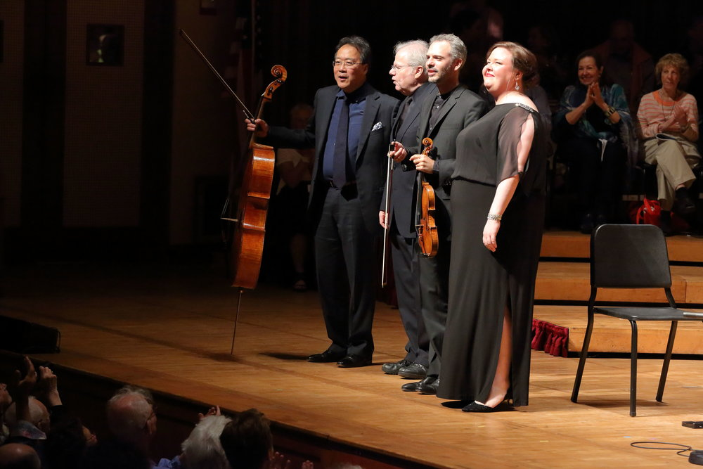 In recital with Yo-Yo Ma, Emanuel Ax, and Colin Jacobsen   Tanglewood Music Festival Photo by Hilary Scott