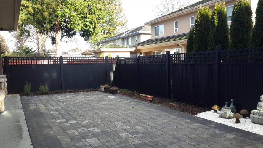 6' high aluminum latice fence, Garden City, Richmond