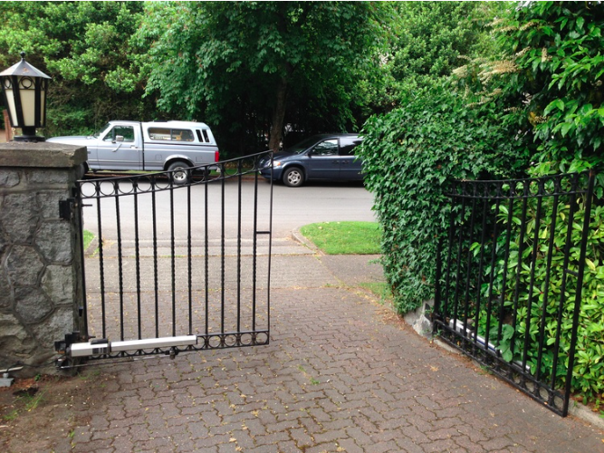 swing gate motor replacement, South Granville, Vancouver, BC.