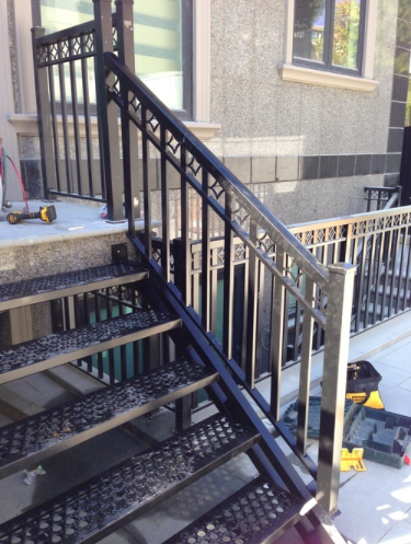 Aluminum stairs, back porch, Fraserview, Vancouver, BC.