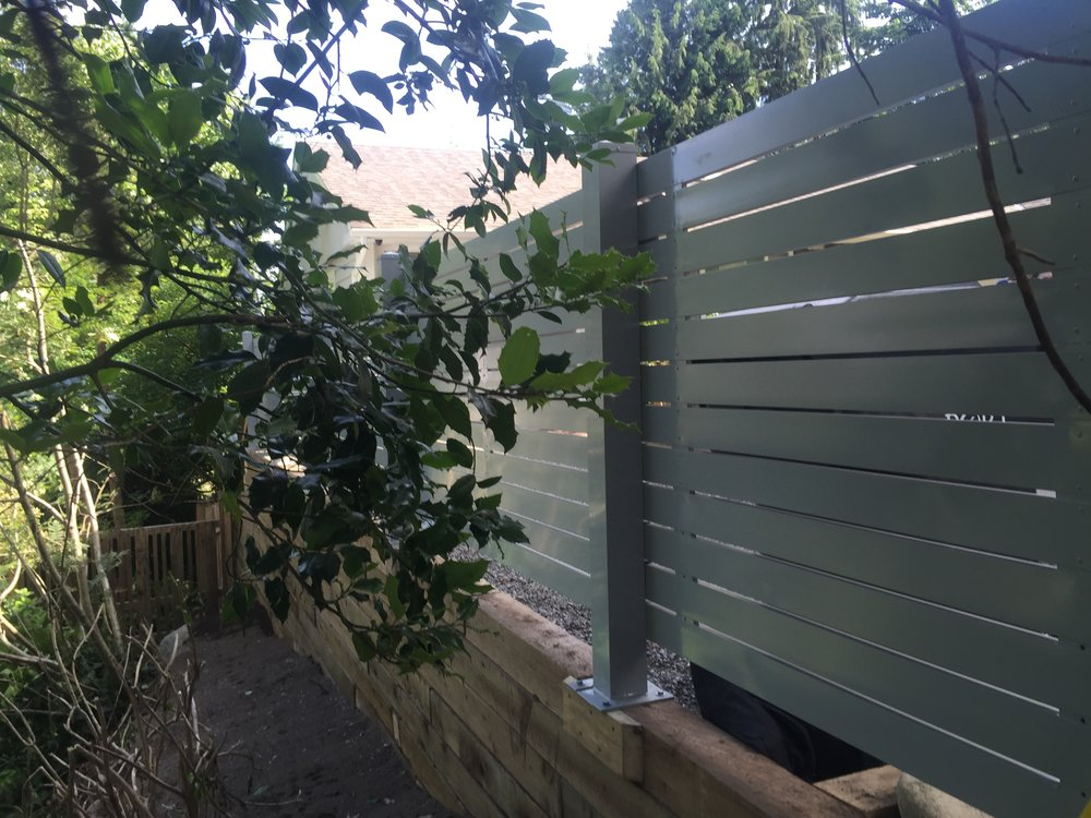 Semi-privacy horizontal fence