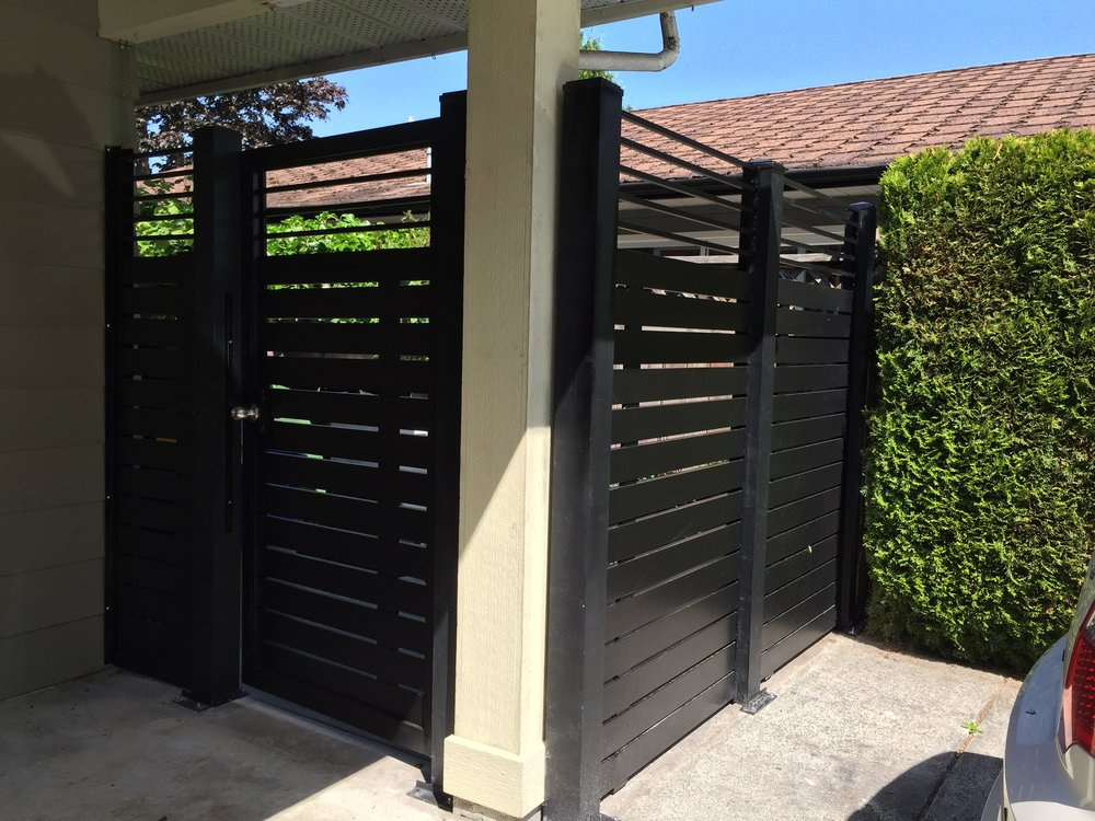 Semi privacy horizontal man gate and fence