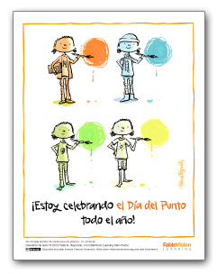 I'm Celebrating Dot Day All Year Long! (Poster 1 - Spanish)