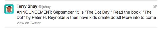 Dot Day First Tweet
