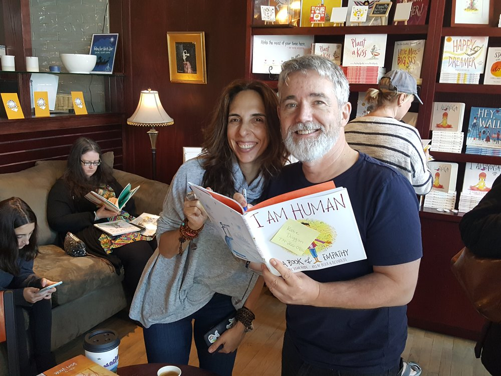 Peter H. Reynolds and author Susan Verde at the I am Human book launch party at the Blue Bunny.
