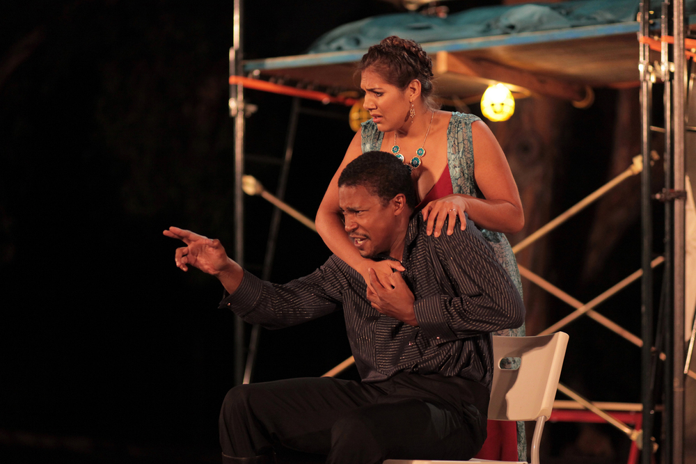 Cameron Knight and Amy Urbina in Othello, 2011. Photo: Ivy Augusta.