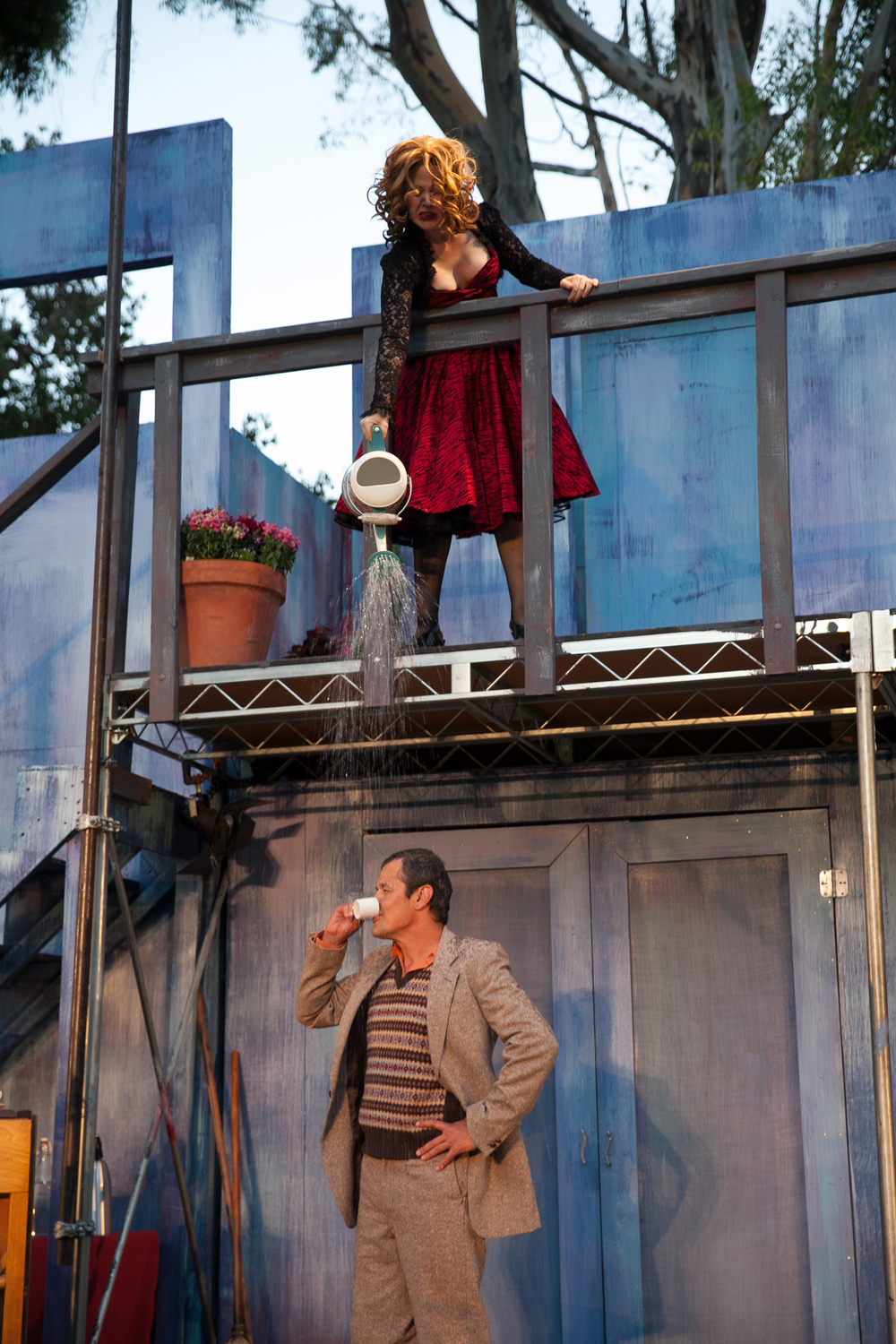 Melissa Chalsma and Luis Galindo in The Taming of the Shrew, 2014. Photo: Grettel Cortes.