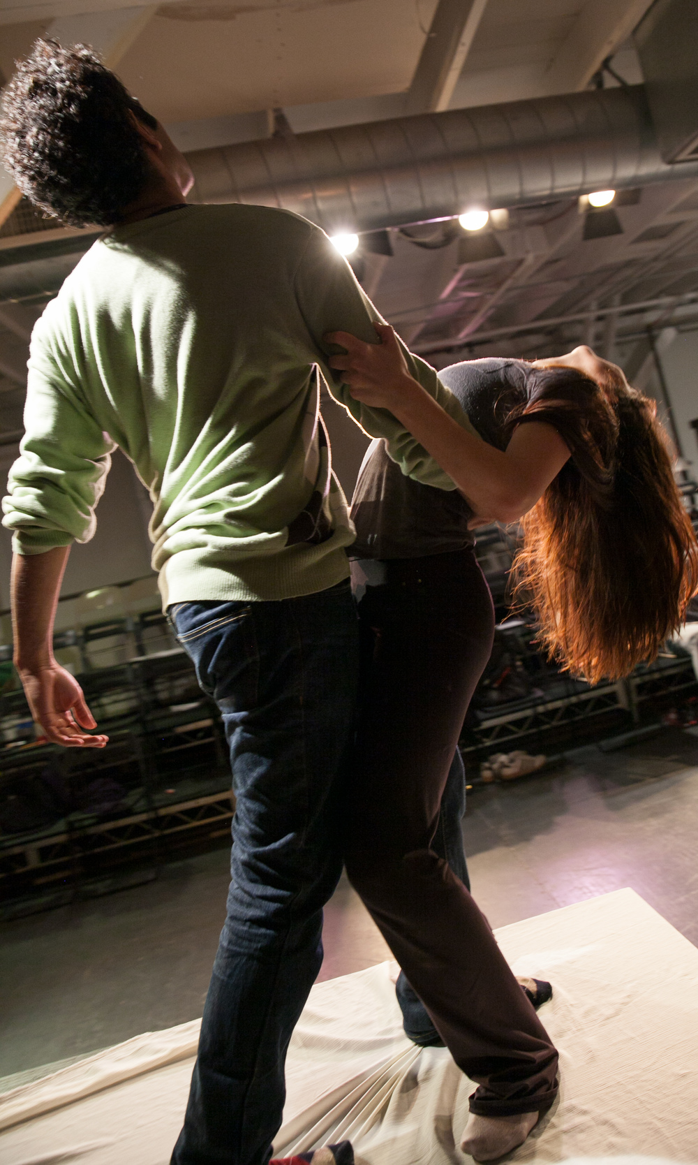 Romeo & Juliet in rehearsal, 2014. Photo: Grettel Cortes.