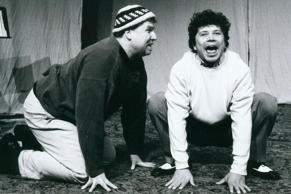 Danny Campbell and Lorenzo Gonzales in The Two Gentlemen of Verona. Los Angeles, 2004.