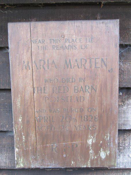 Maria's original gravestone was chipped away until there was nothing left. By Americans, probably.