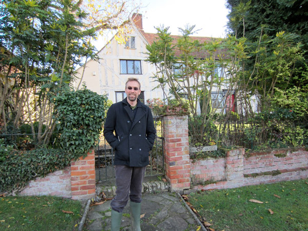 David outside of Billy corder's home.