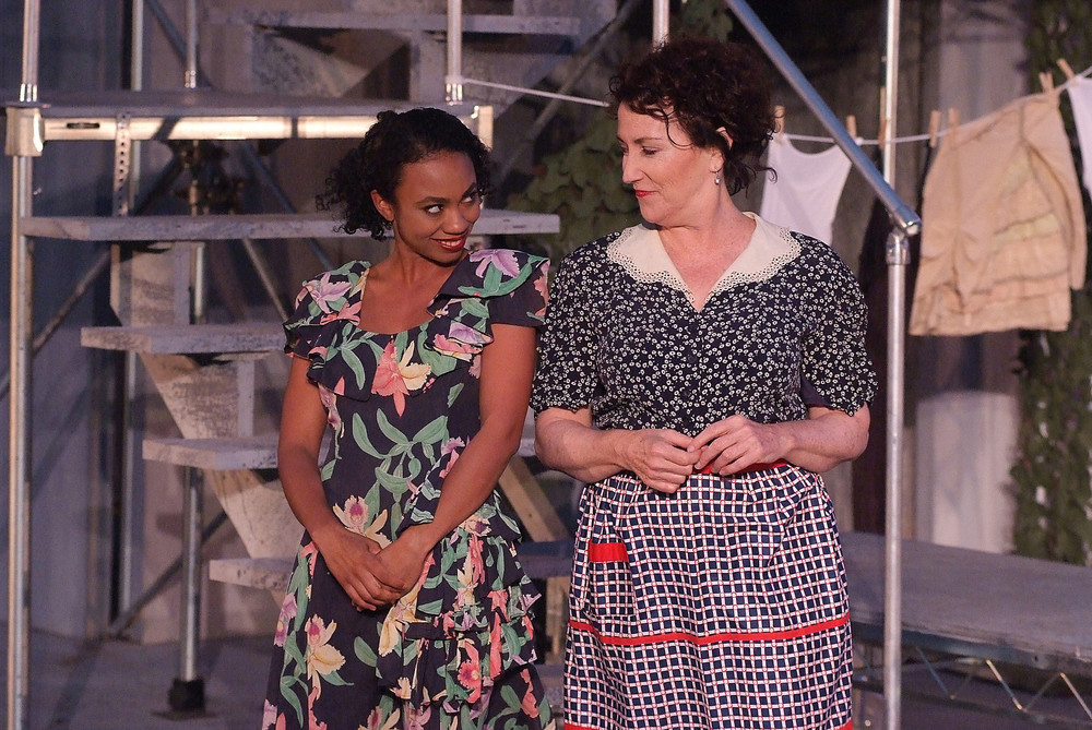 Danny brown with Bernadette Sullivan, Much Ado About Nothing, Griffith Park Free Shakespeare Festival 2015. Photo by Ed Krieger