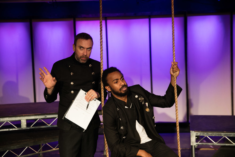 David Melville and Evan Lewis Smith in Othello, 2016.