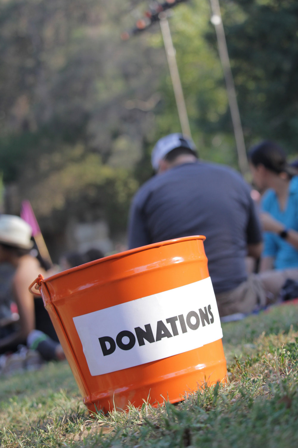Some things never change! our trusty donation bucket takes a break in griffith Park