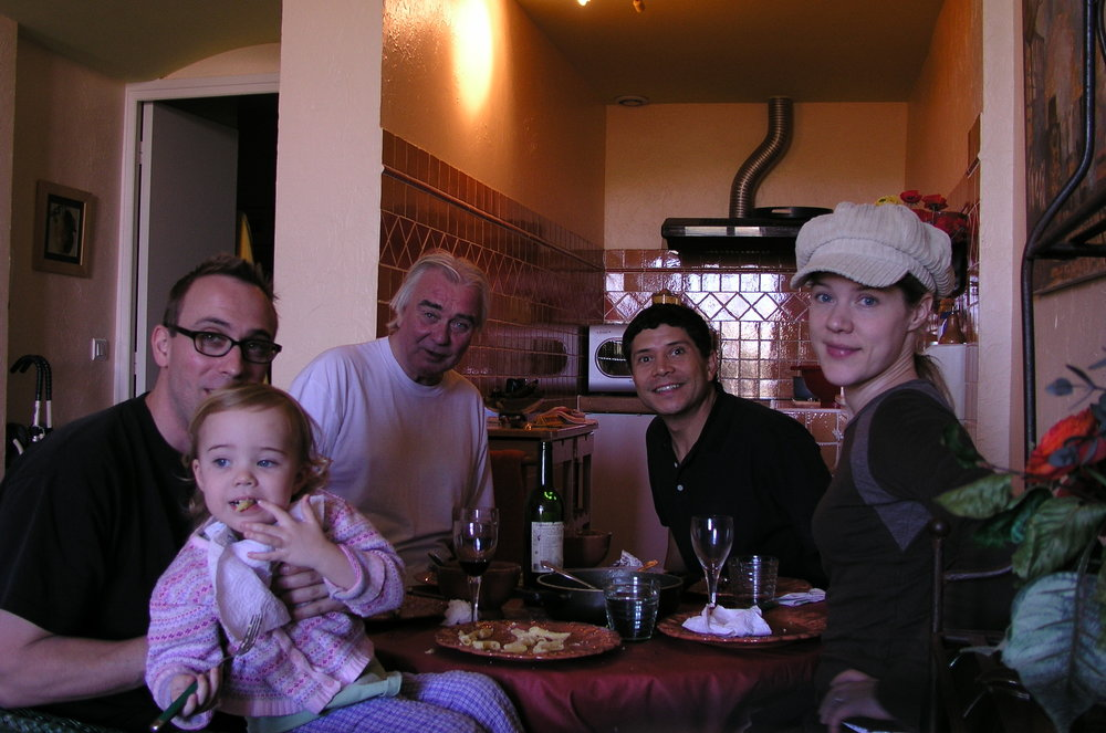 SOme things never change, part 2: That's Lorenzo, third from the left. on a break from Richard 3, 2005.  He still is our close collaborator! And look at our daughter, just three. ALso pictured, David, Melissa and David's dad, george.