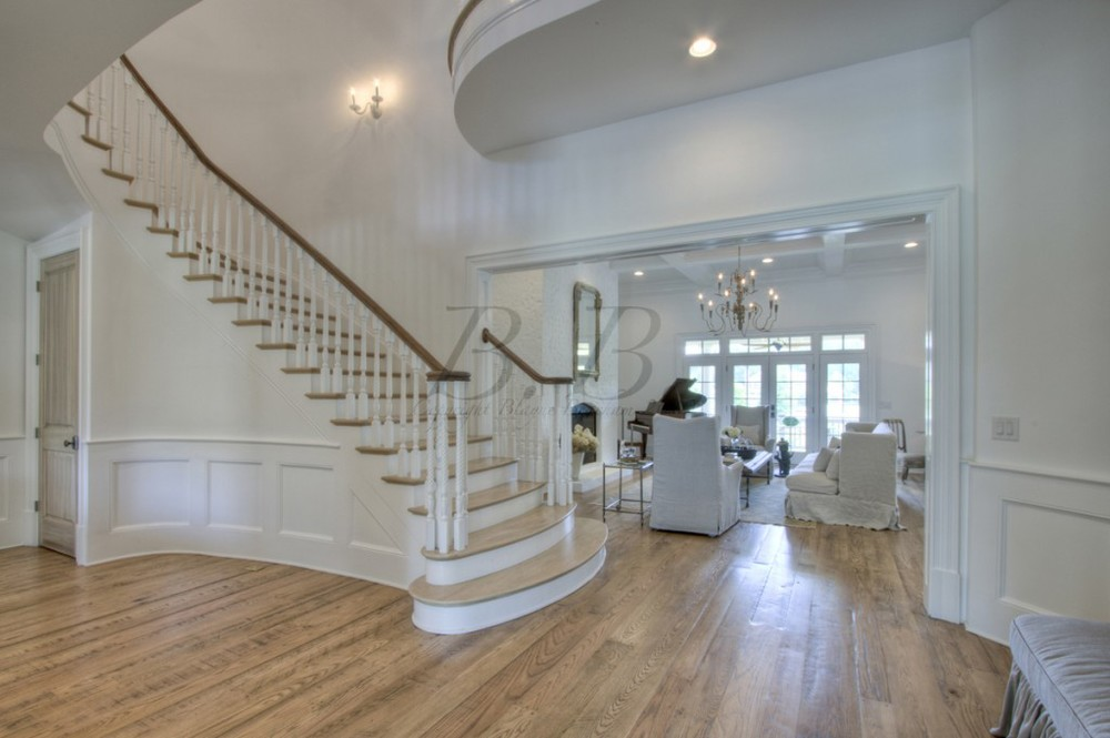 Stairs into living room