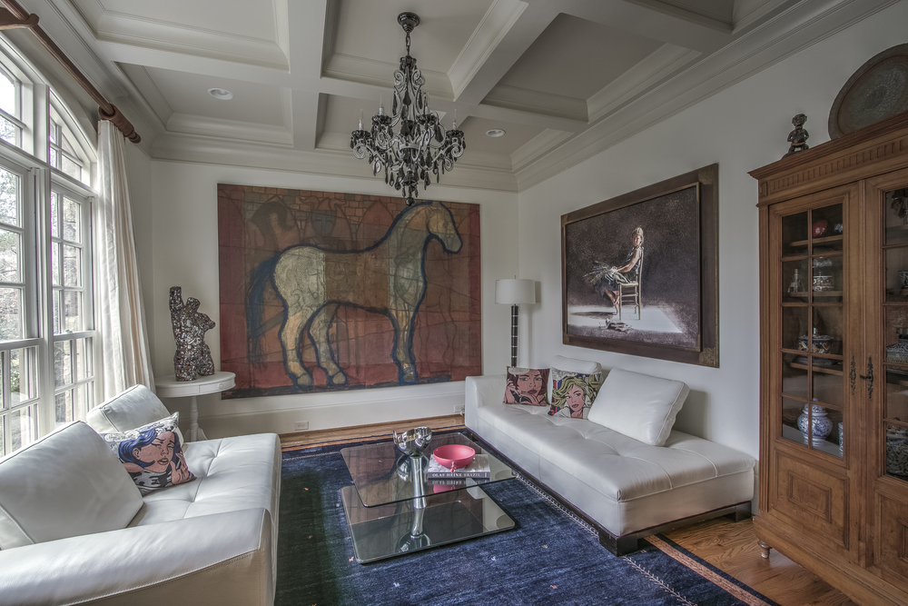 Horse painting living room