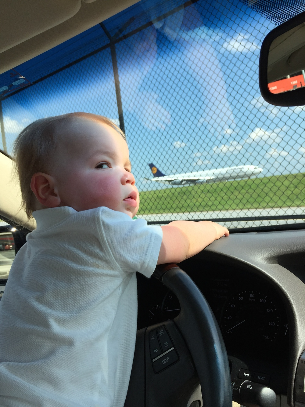 Watching planes like my daddy.