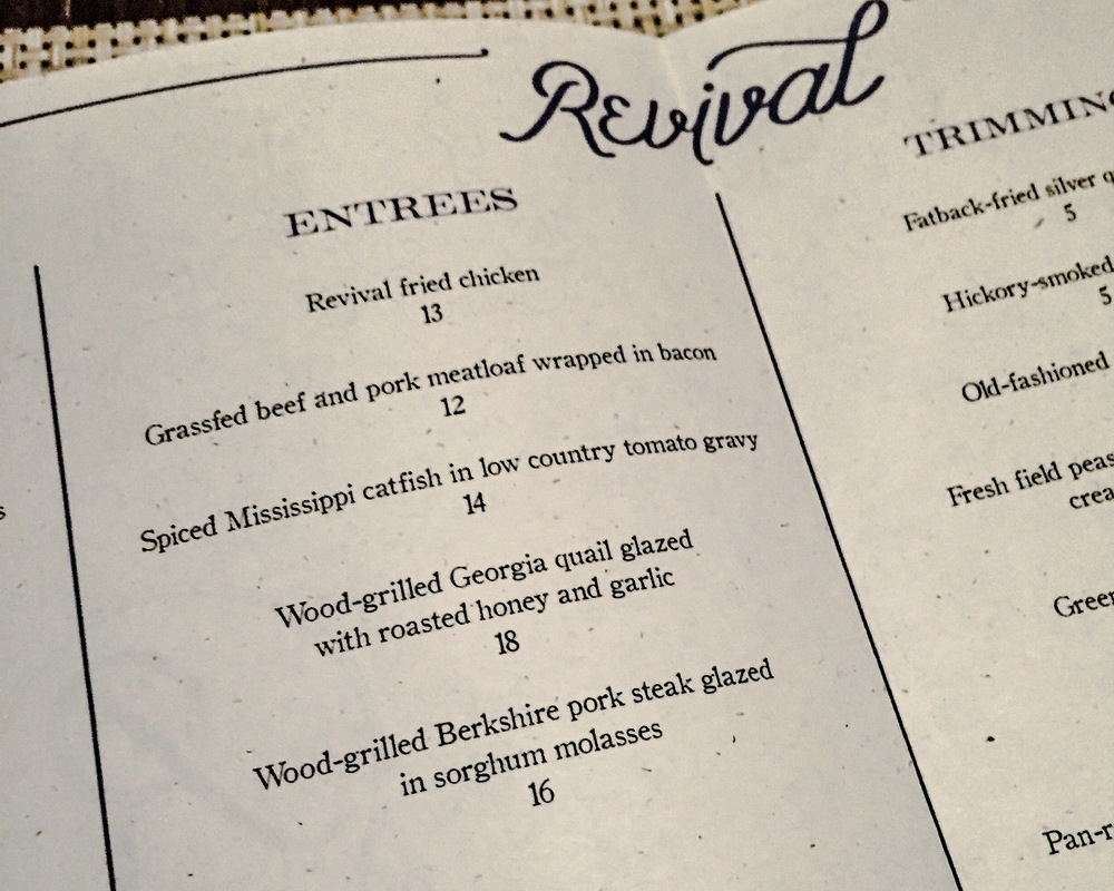 Revival Menu
