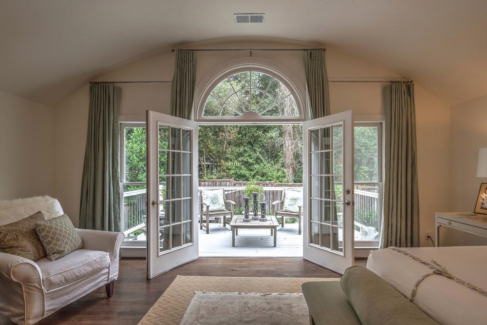 doors in master bedroom