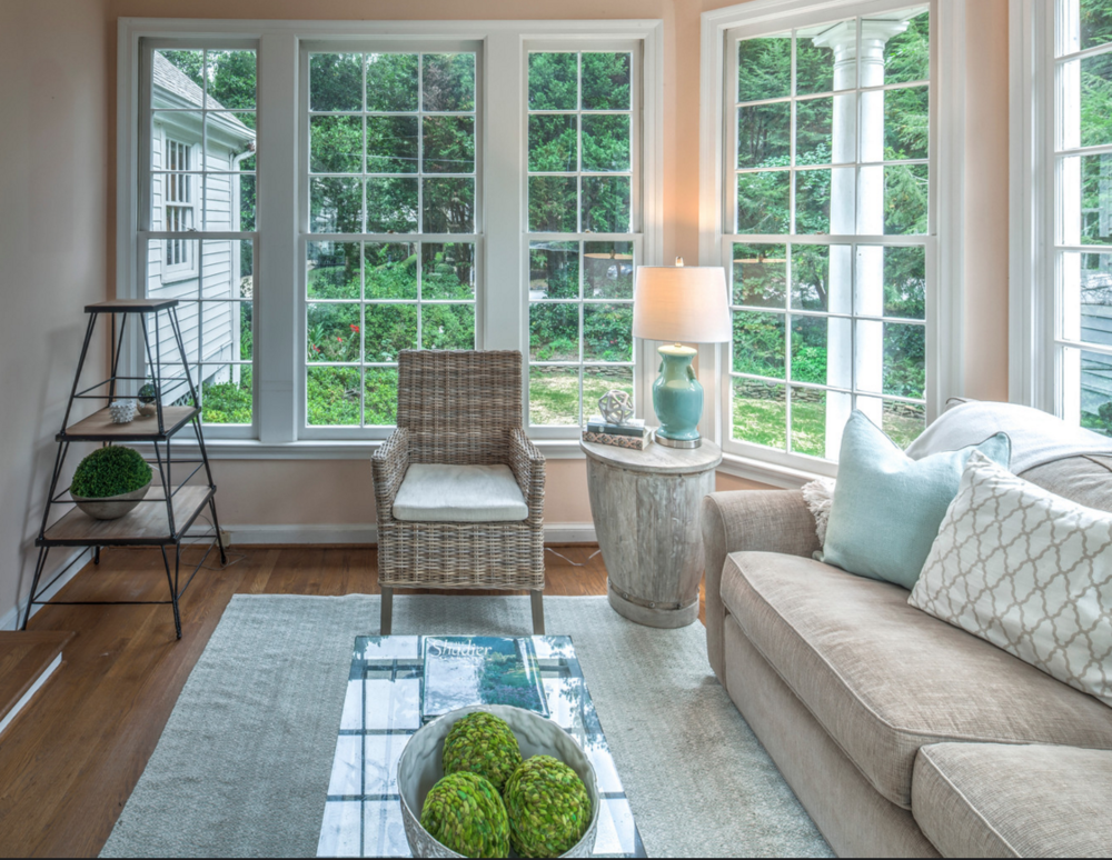 Staged sunroom