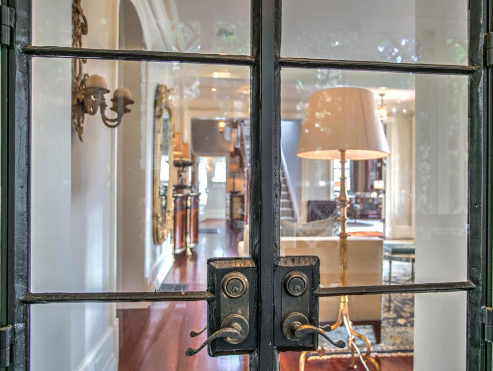 iron doors into livingroom