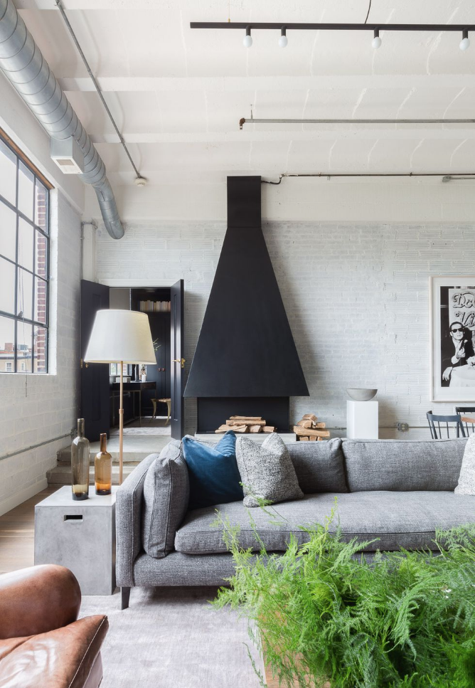 c/o  Elle Decor  - Photo by  Alyssa Rosenheck  - sofa by Montauk