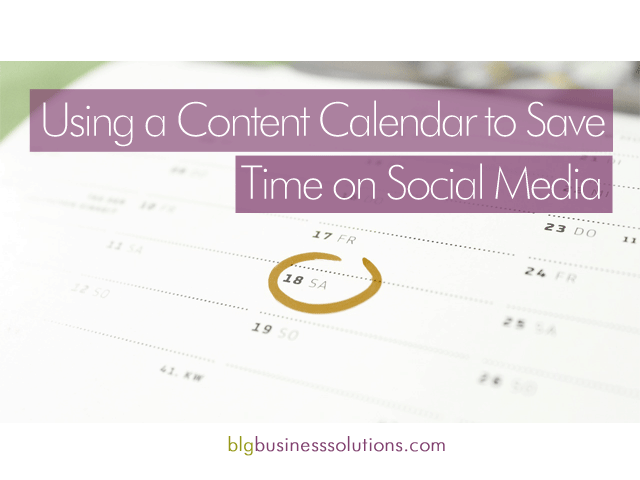 content calendar to save time on social media