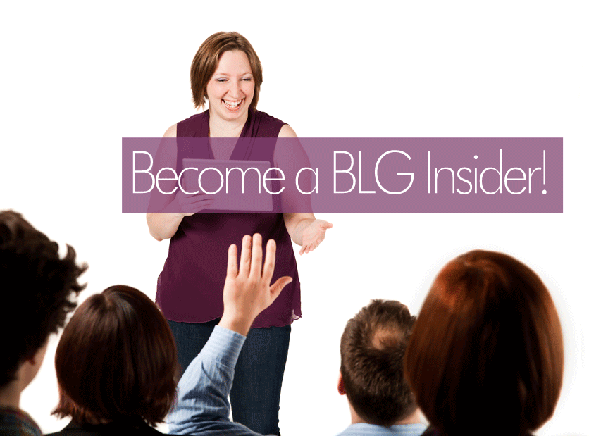 Want to get these helpful business and marketing updates in your inbox every week? Want exclusive access to all of my marketing & social media download resources and webinar recordings? Become a BLG Insider!