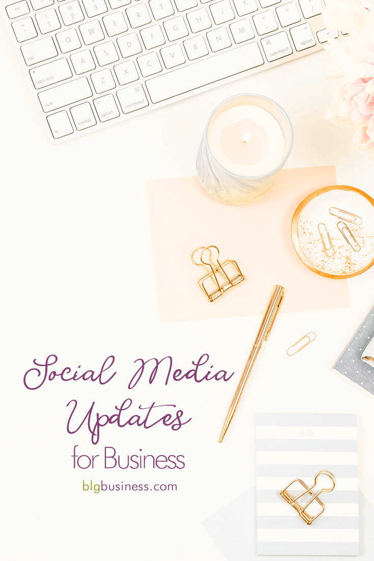 I get it. Social media is changing quickly. You are busy running your business and you don't have the time to stay on top of all of the updates that are happening constantly (I'm looking at you, Facebook!). I am compiling all of the most relevant changes that you need to know about here in a single post - bookmark it and check back monthly!
