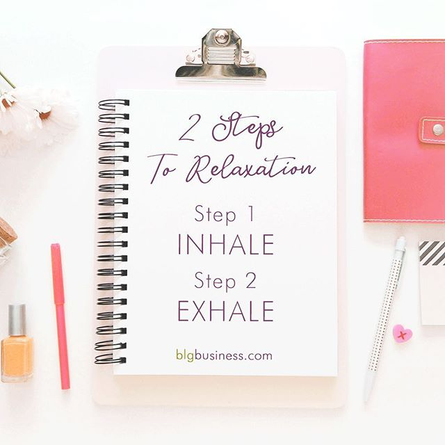 Two steps to relaxation:⠀ ⠀ 1 - Inhale⠀ 2 - Exhale⠀ ⠀ Working hard or hustling is only worth it if you balance it out with aggressive relaxation.⠀ ⠀ Watch that movie.📽⠀ ⠀ Hang out in your backyard with that glass of wine.🍷⠀ ⠀ Lay on the couch and read that book that's been sitting on your shelf.📖⠀ ⠀ Savour your morning coffee.☕️⠀ ⠀ Treat yourself to a bubblebath.🛀⠀ ⠀ And when all else fails?⠀ ⠀ Breathe.💕⠀ ⠀ ⠀ ⠀ #breatheinbreatheout #selfcaretip #relaxationmode #productivitytips #blgbusiness #getshitdone #figureshitout #womeninbiz