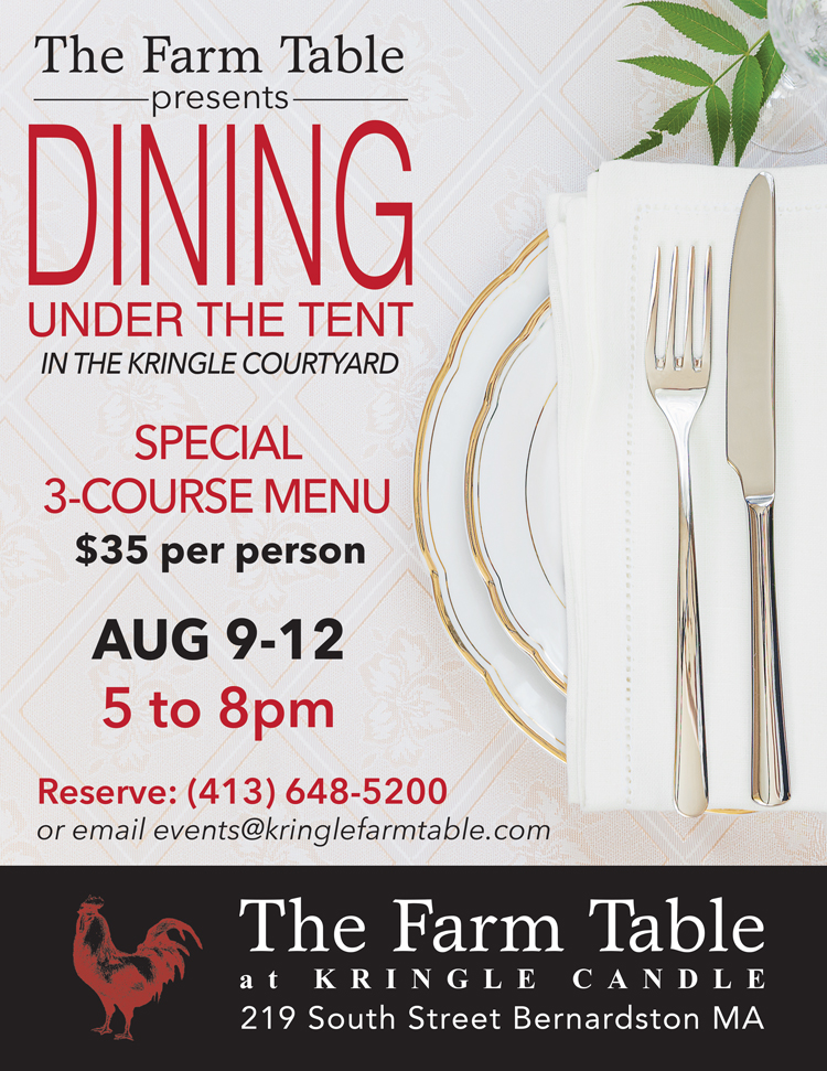 DINING UNDER THE TENT EVENT The Farm Table - The farm table ma
