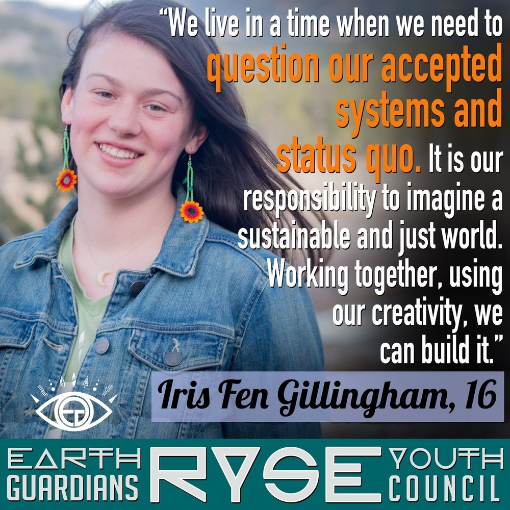 Iris is an incredible activist from the Catskill Mountains of NY. She not only is the crew leader of EG SUNY Sullivan, NY but also an active member of our RYSE youth council.