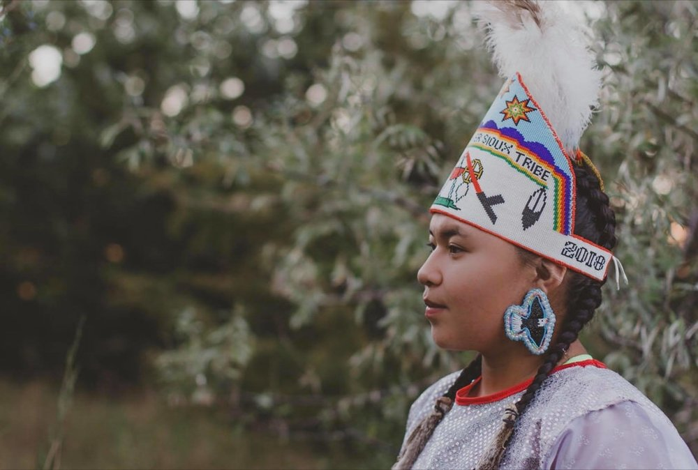 Serena Eagle, one of our Core youth Visionaries of this Training, Mincoujou Lakota