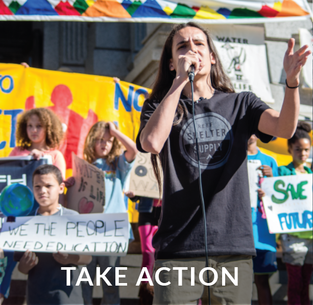 Visit our Action Center to get involved and help the planet