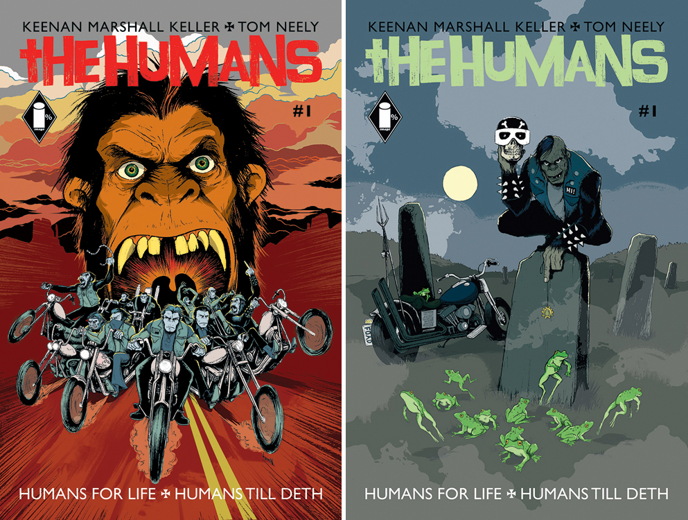 Forbbidden Planet UK / Jetpack Comics variant cover (R) is a tribute to the film Psychomania.