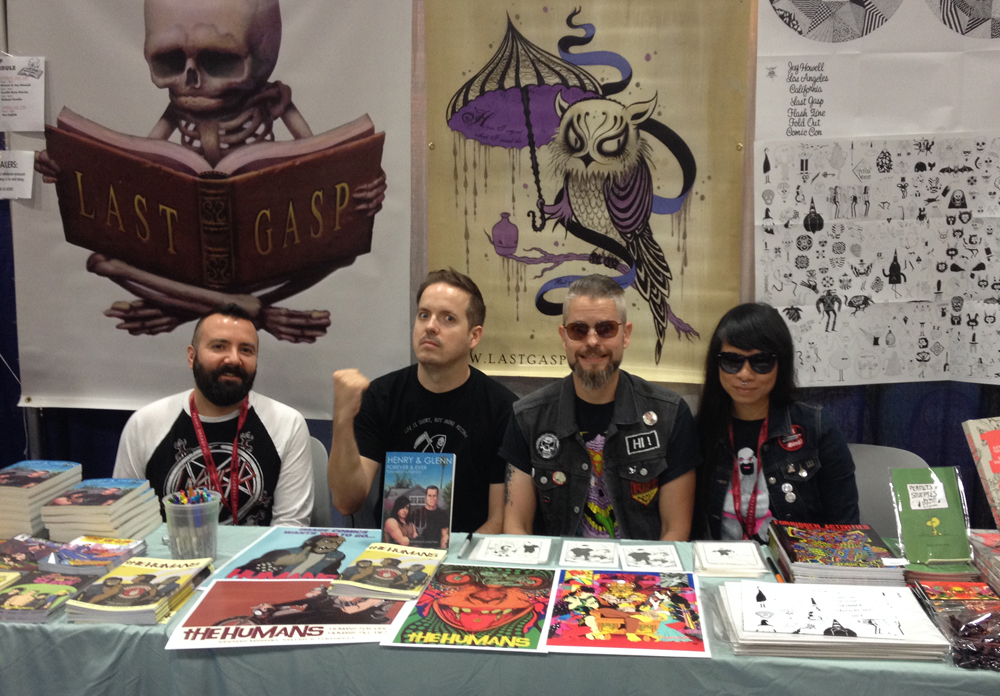 Signing with Ed Luce at the Last Gasp booth