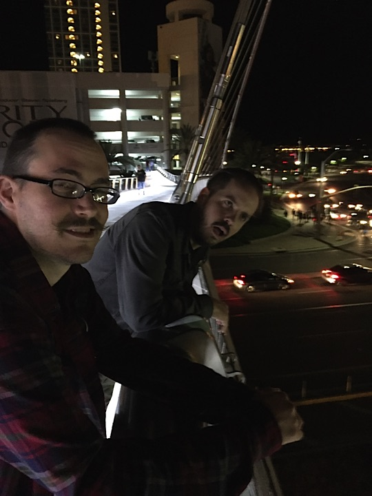 """Erased our Minds"" while hanging out on a bridge during the Eisners with Seattle based artist, Marc J Palm."