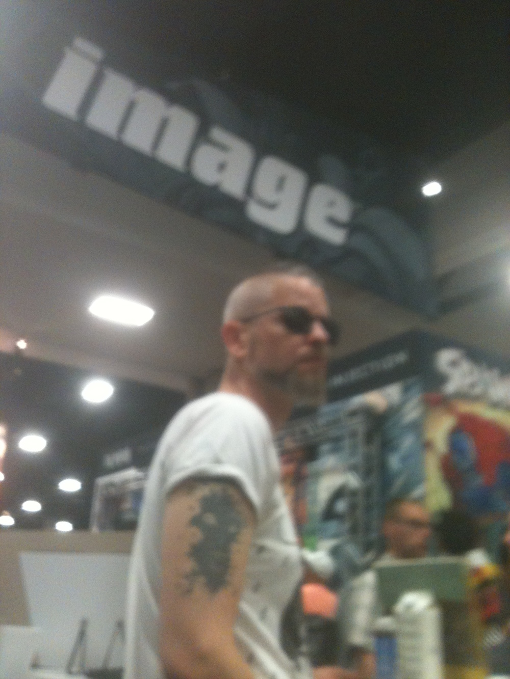 a blurry Tom at one of our IMAGE signings