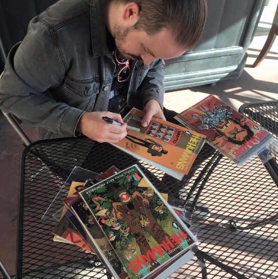 Signed a few comics while hanging at The MINT.