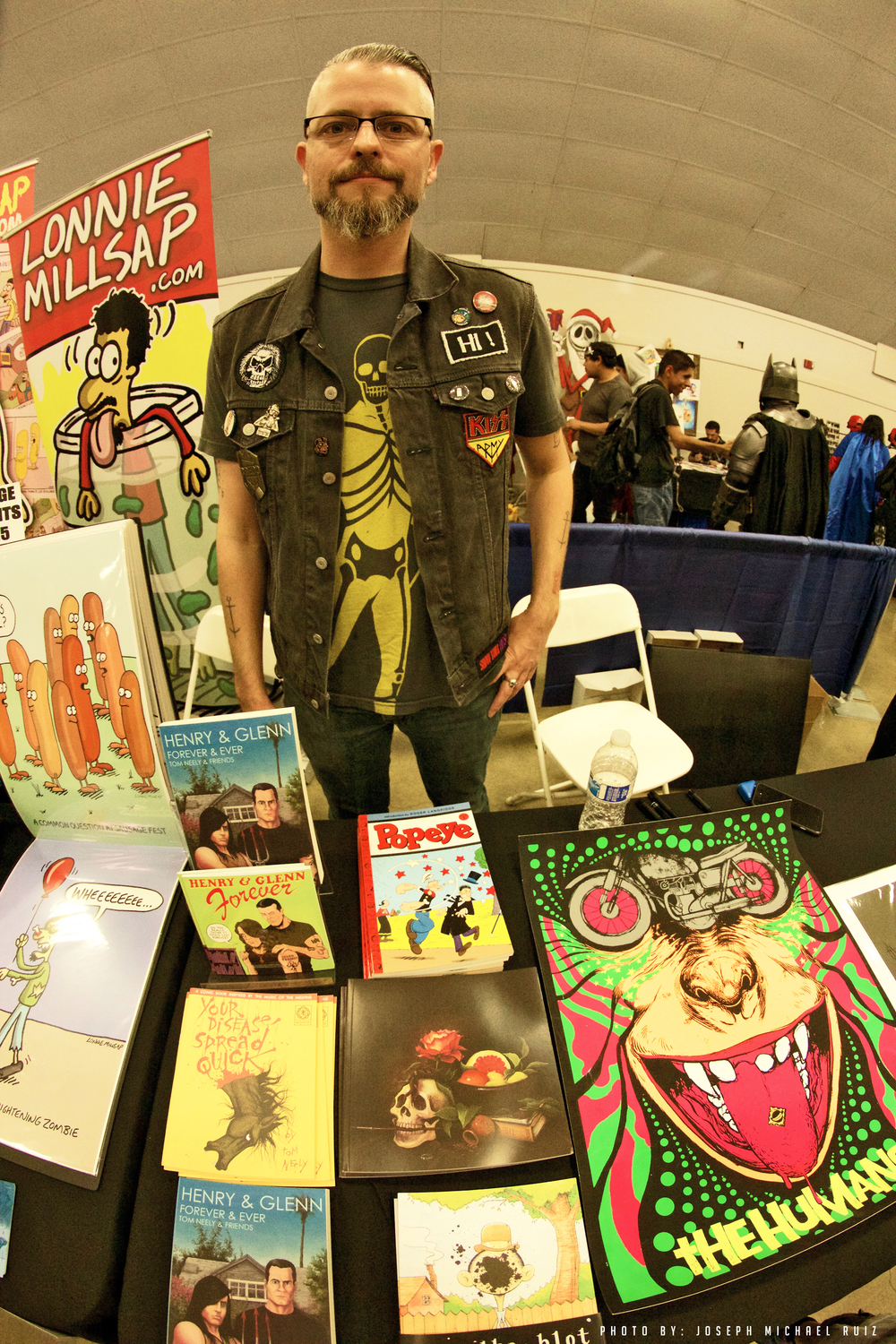 Tom Neely with his other works: The Blot, The Wolf, Popeye Collection (IDW -featuring Tom and several other artists), Your Disease Spread Quick, and the cult classic Henry & Glenn Forever & Ever.
