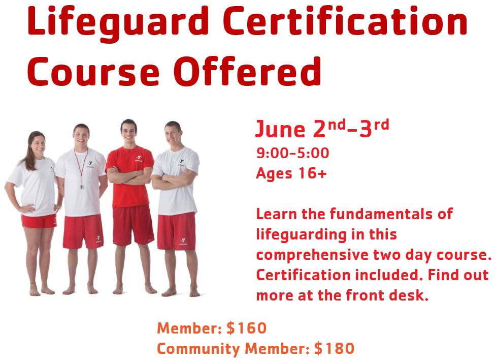 Lifeguard Certification Course Wenatchee Ymca
