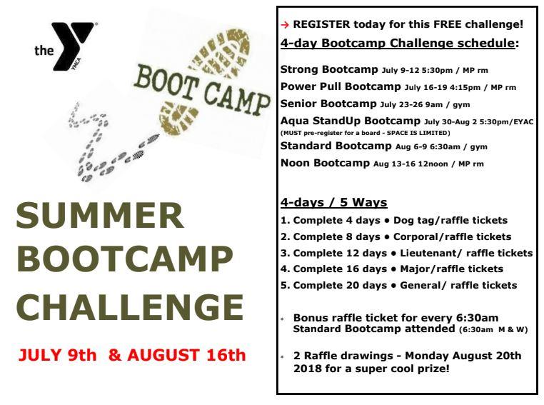 Summer Bootcamp Challenge Starts — Wenatchee Valley Ymca